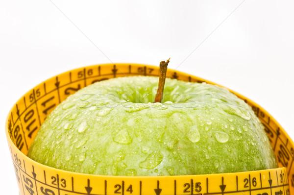 Jabłko diety biały żywności tle środka Zdjęcia stock © luiscar