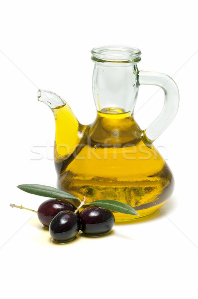 оливкового масла свежие оливками белый продовольствие фон Сток-фото © luiscar