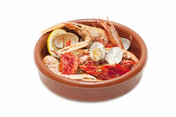 Fruits de mer variété blanche affaires alimentaire Photo stock © luiscar