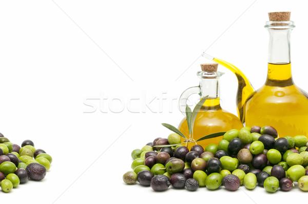 Oliwy oliwek biały żywności owoców zielone Zdjęcia stock © luiscar