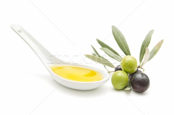 оливками свежие белый бизнеса продовольствие здоровья Сток-фото © luiscar