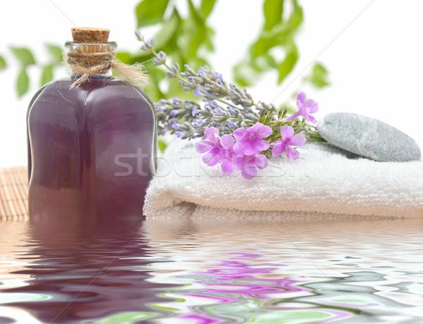 Traitement spa naturelles herbes fleur santé laisse Photo stock © luiscar