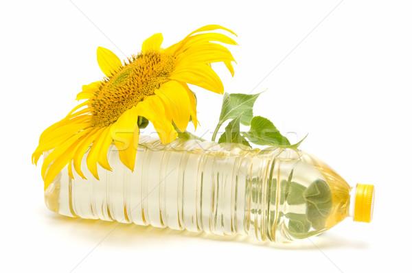 óleo de girassol girassol branco sol fundo folhas Foto stock © luiscar