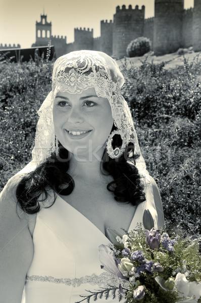 Kadın gelin güzel bir kadın düğün gün kız Stok fotoğraf © luiscar