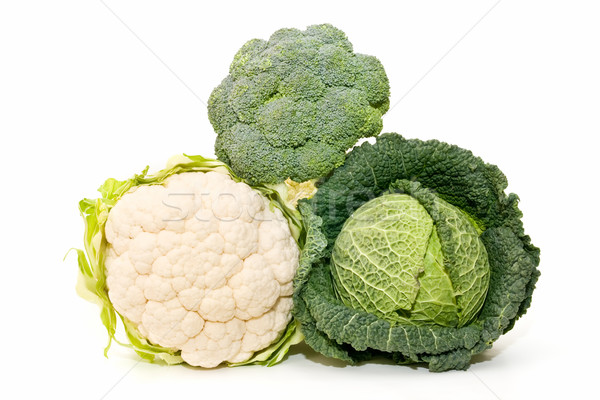 Kapusta kalafior brokuły ekologiczny nowo charakter Zdjęcia stock © luiscar