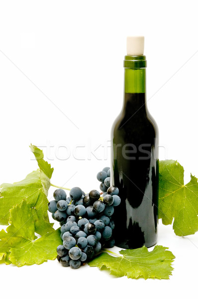 Still life vin vin rouge raisins blanche Photo stock © luiscar