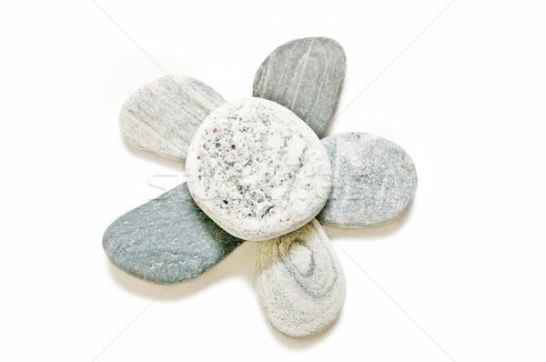 Spa taşlar doğal simge beyaz soyut Stok fotoğraf © luiscar