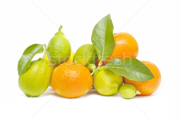 świeże pomarańczowy cytryny odizolowany biały żywności Zdjęcia stock © luiscar