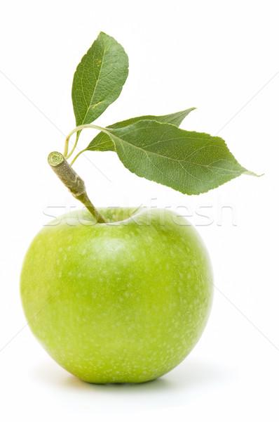 Foto stock: Fresco · maçãs · orgânico · branco · comida · sobremesa