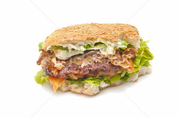 Burger morder especial queijo tomates alface Foto stock © luiscar