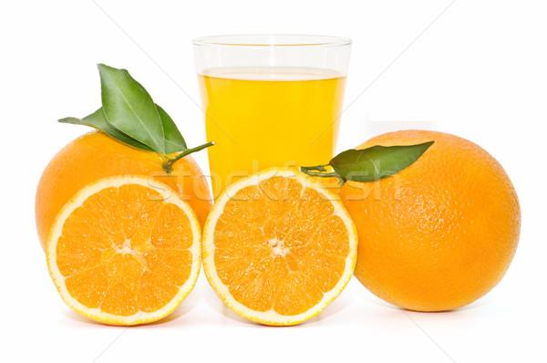 Vers sinaasappelen gekozen witte natuur vruchten Stockfoto © luiscar