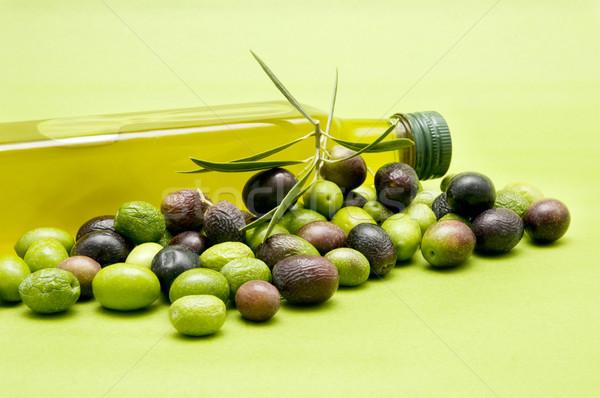 Zeytinyağı zeytin yeşil gıda meyve yağ Stok fotoğraf © luiscar
