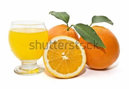 Fresco laranjas selecionado branco natureza frutas Foto stock © luiscar