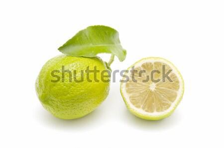 Fresco limão isolado branco comida frutas Foto stock © luiscar