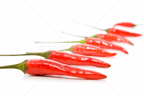 Picante pimientos chile alimentos calor aislado Foto stock © luiscar