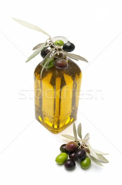 Aceite de oliva aceitunas blanco alimentos frutas verde Foto stock © luiscar