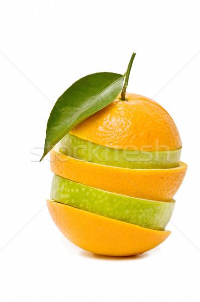 Misto frutas isolado branco comida maçã Foto stock © luiscar