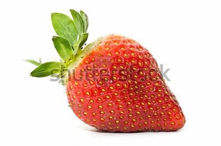 świeże truskawek ekologiczny biały żywności deser Zdjęcia stock © luiscar