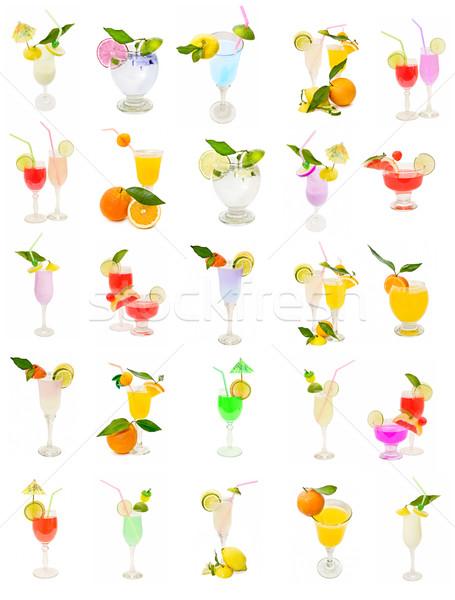 Ensemble cocktail isolé blanche bonbons couleur Photo stock © luiscar