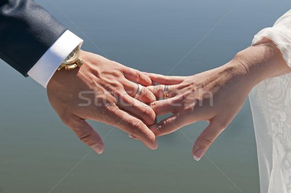 рук невеста жених пару свадьба день Сток-фото © luiscar