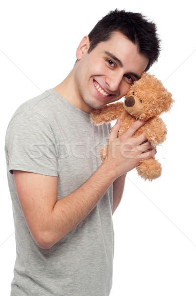 Uomo orsacchiotto ritratto giovane isolato Foto d'archivio © luissantos84