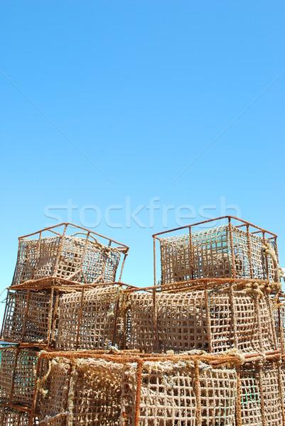 öreg halászat kikötő Portugália égbolt hal Stock fotó © luissantos84