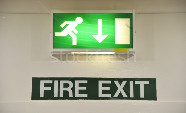 Fire exit sign Stock photo © luissantos84