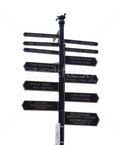 Directional sign in Cheltenham Stock photo © luissantos84
