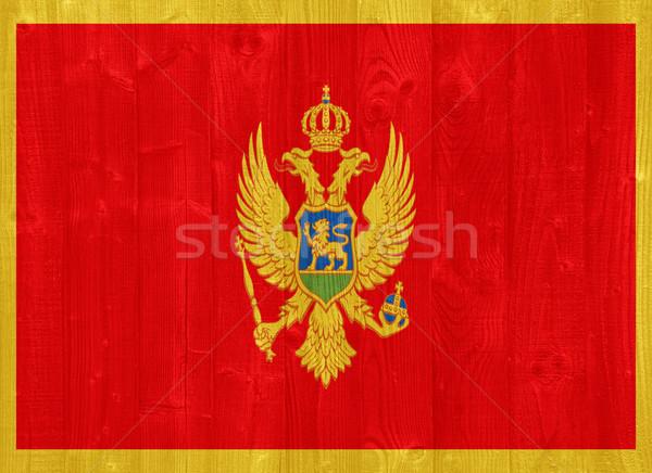 Черногория флаг великолепный окрашенный древесины доска Сток-фото © luissantos84
