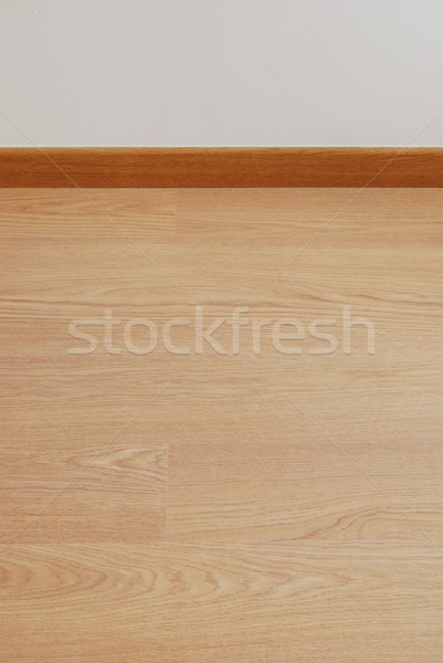 Wooden parquet floor and white wall copy-space  Stock photo © luissantos84