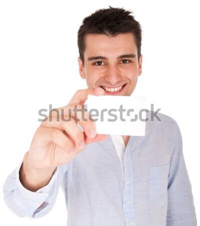 Uomo carta sorridere giovani casuale Foto d'archivio © luissantos84