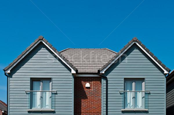 Britânico casa residencial praia estilo janela Foto stock © luissantos84