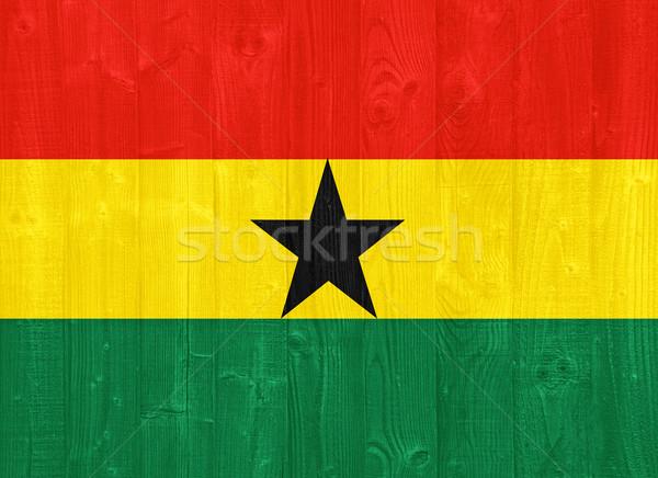 Ghana bandiera magnifico verniciato legno Foto d'archivio © luissantos84