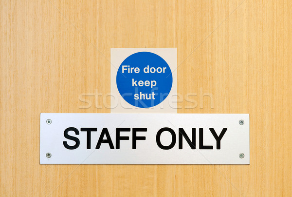 Staff only sign Stock photo © luissantos84