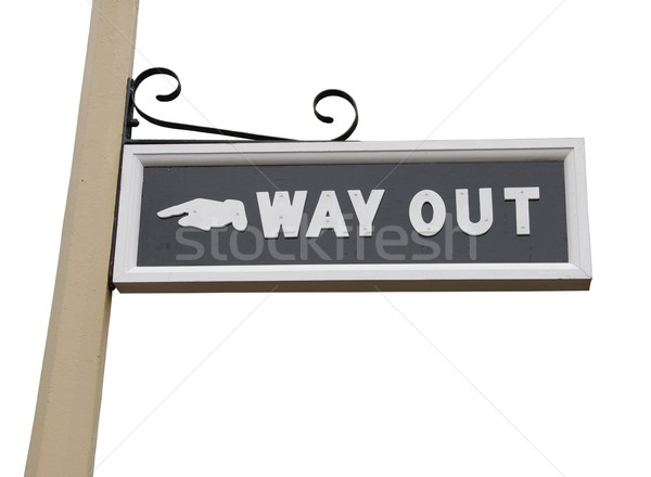 Way out sign Stock photo © luissantos84