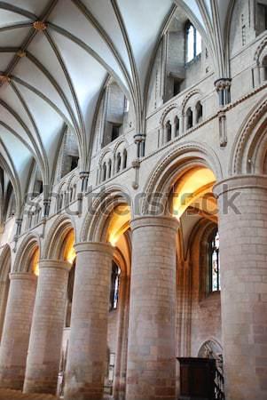 Catedral interior famoso inglaterra Reino Unido igreja Foto stock © luissantos84