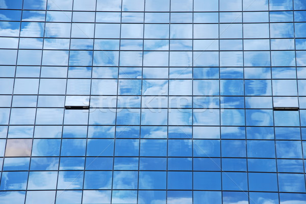 Glass pattern (clouds reflected) Stock photo © luissantos84