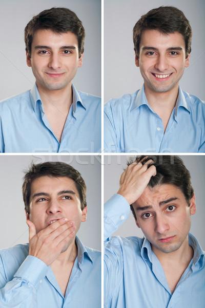 Businessman expressions Stock photo © luissantos84