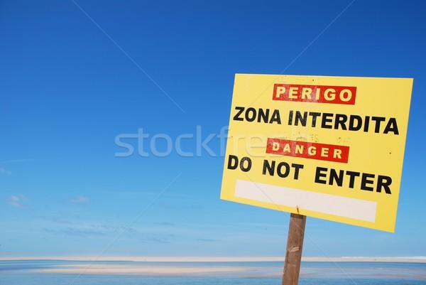Do not enter sign at the beach Stock photo © luissantos84