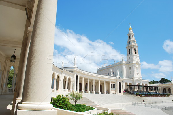 View of the Sanctuary of Fatima, in Portugal Stock photo © luissantos84
