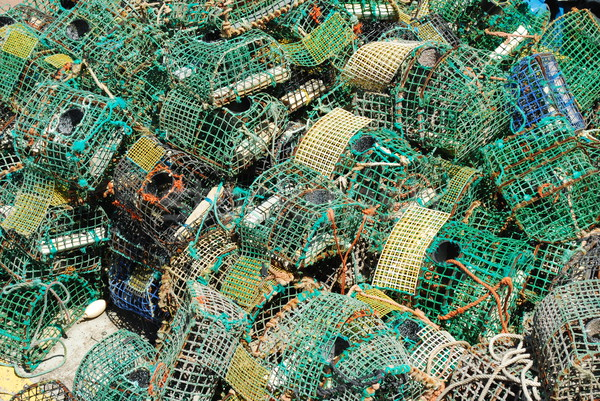 Stock photo: Old fishing cages in the port of Cascais, Portugal