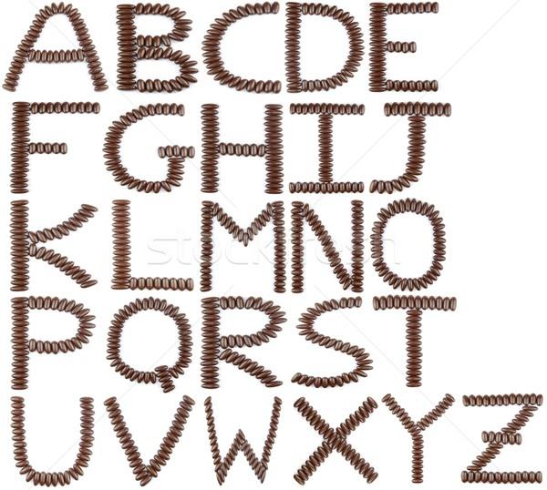 Chocolate English Alphabet Stock photo © luissantos84
