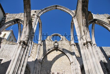 Carmo Church ruins in Lisbon, Portugal Stock photo © luissantos84