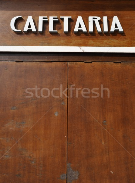 Coffee house sign Stock photo © luissantos84