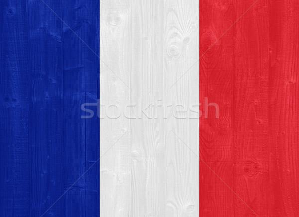 Франция флаг великолепный окрашенный древесины доска Сток-фото © luissantos84
