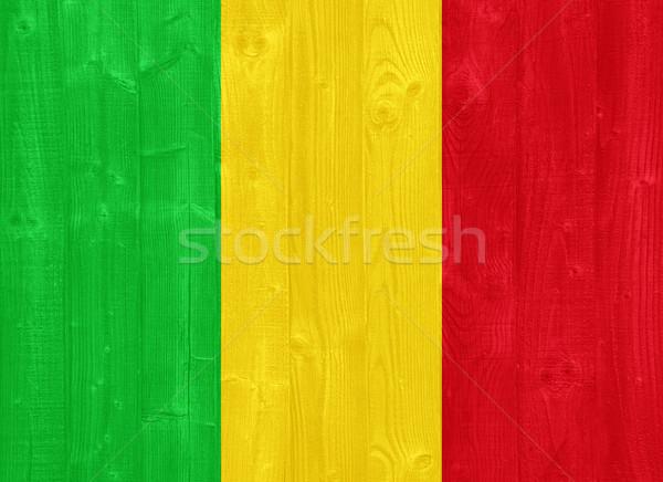 Мали флаг великолепный окрашенный древесины доска Сток-фото © luissantos84