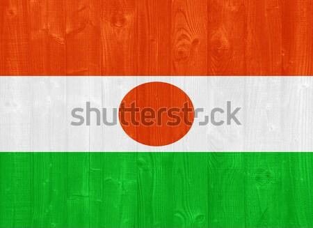 Niger bandiera magnifico verniciato legno Foto d'archivio © luissantos84