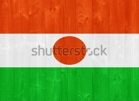 Níger bandera pintado madera Foto stock © luissantos84