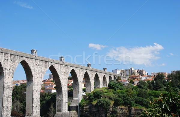 Aqueduct in Lisbon Stock photo © luissantos84
