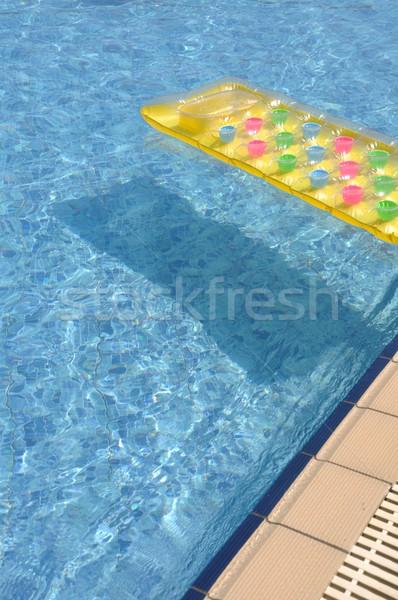 Felfújható matrac káprázatos úszómedence oldal színes Stock fotó © luissantos84